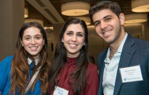 Alumni participants Mazal-Tov Amsellem '16S, Nicole Bock '16S, and Michael Heino '13YC