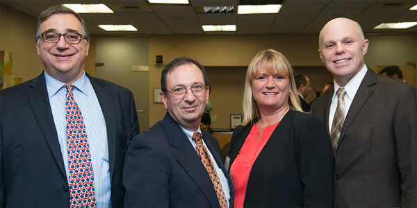 (l-r) Tom Apple (ITOCHU International Inc.); Neal Soss (Credit Suisse); Tracey Massey (Mars Chocolate North America); Jake Novak (CNBC.com)