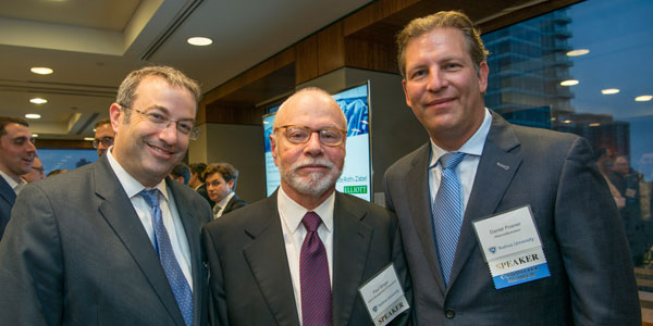 (l-r): Rabbi Dr. Ari Berman, president of Yeshiva University; Paul Singer; and Daniel Posner '91YC