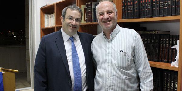(l-4): Rabbi Dr. Ari Berman and Rabbi Joel Cohn '77YC