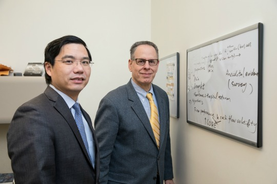 Professors Henry He Huang and Joseph Kerstein, Sy Syms School of Business