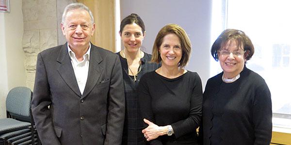 (l-r): Mordecai Paldiel; Sarah Bostein; Lynn Novick; Tova Rosenberg
