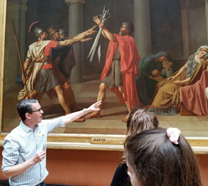 Dr. Young lectures on the Oath of the Horatii Jacques-Louis David in the Louvre