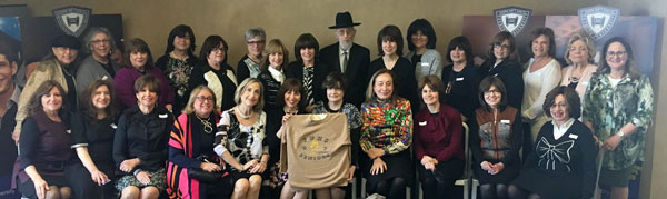 Rabbi Fulda meets with members of the YU High School for Girls class of 1967.