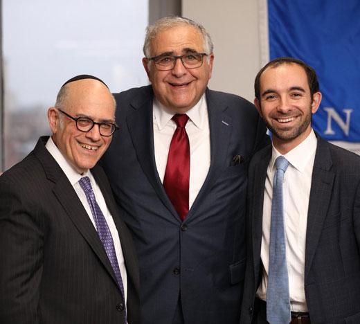 Rabbi Dr. JJ Schacter, President Emeritus Richard Joel, Rabbi Dr. Zev Eleff