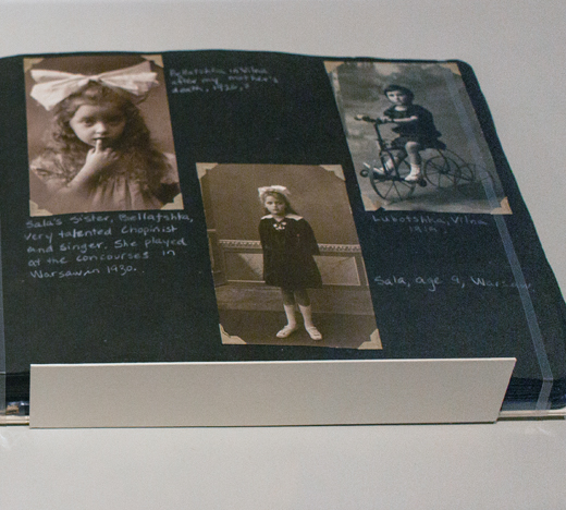 Lost & Found: A Family Photo Album: showing the album open