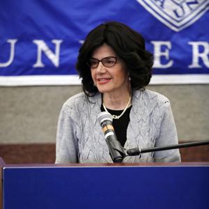 Ms. Rookie Billit speaks at the Tribute to the Legacy of Rabbi Meir Fulda