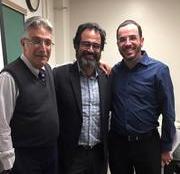 (l-r): Dr. Stillman; Dr. Ronnie Perelis; Rabbi Dr. Richard Hidary
