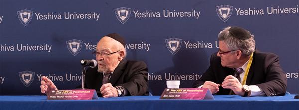 (l-r): Rabbi Moshe Tendler; Dr. John Loike