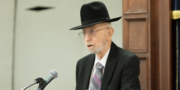 "Rabbi Meir Fulda z""l speaking about Kristallnacht in 2016"