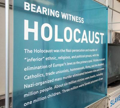 Bearing Witness to the Holocaust display panel