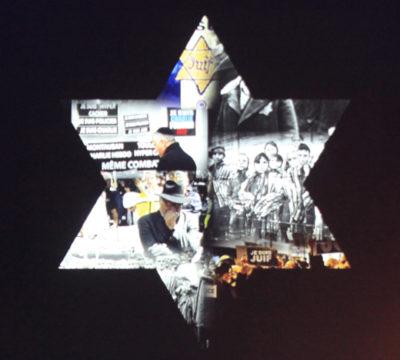 Star of David at Yom HaShoah 2015