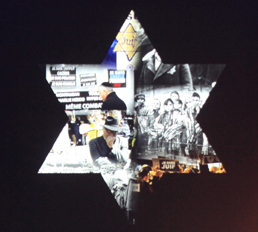 Star of David at Yom HaShoah 2015