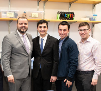 Marcos Crespo visits with MTA to tour their science lab.