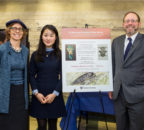 (l-r): Dr. Jill Katz; Debby Li; Dr. Mordechai Cohen