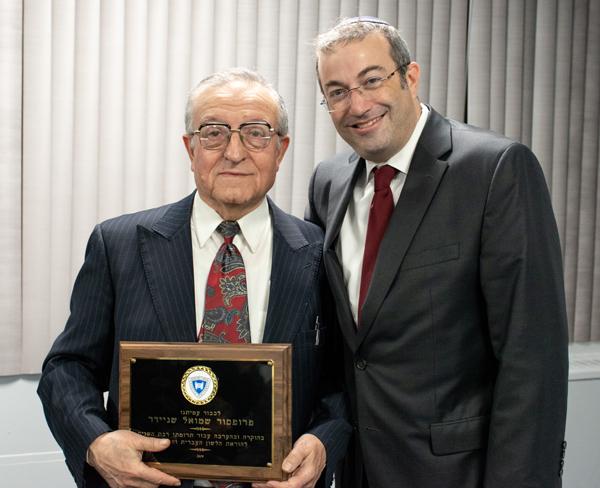 Dr. Shmuel Schneider with Dr. Ari Berman