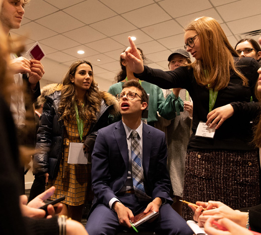 High school students gather at the Crowne Plaza in Stamford, Connecticut for the Yeshiva University Model United Nations (YUNMUN).