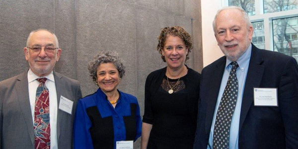 """(l-r): Dr. Marty Rock, Dr. Shelly Goldklank, Dr. """"Lu"""" Steinberg and Dr. Carl Auerbach"""