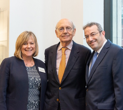 Group photo of Dean Leslie, Stephen Breyer and Dr. Ari Berman
