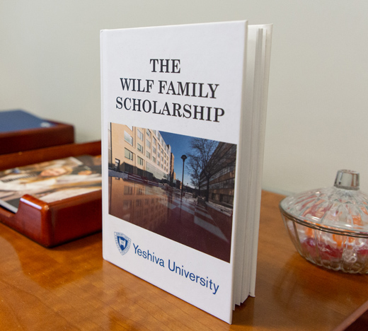 Book titled The Wilf Family Scholarship