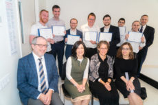 Certificate recipients for the RIETS/Ferkauf joint program, with their instructors.