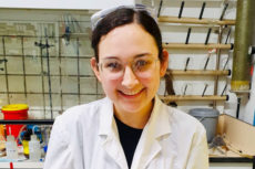Eliana Felder in her lab at the Weizmann Institute of Science