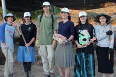 (l-r): Dr. Jill Katz, Shalva Eisenberg, Yishai Eisenberg, Yael Eisenberg, Jade Steinmetz, Channah Klapper