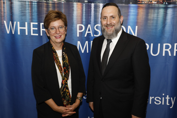 Dr. Danielle Wozniak and Rabbi Elazar Meisels