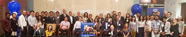 Group photo of the students and panelist at Decisions with Data Conference