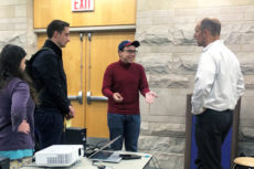 Dan Beaudry meets with international students