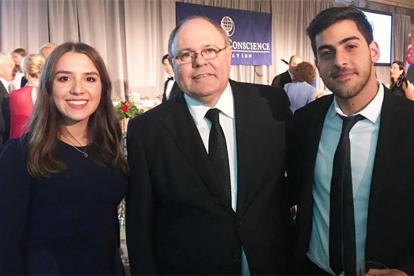 (l-r): Elisheva Kohn, Consul General Dani Dayan, Aharon Benchimol