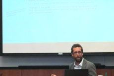Ori Aronson speaking on the nationality law