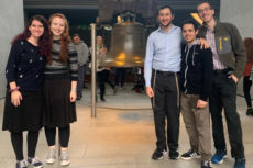 (l-r): Blaire Ellenberg, Aviva Landau, Ben Freund, Hudi Rosenfeld and Yehuda Goldfeder in Philadelphia