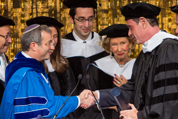 Dr. Ari Berman awards an honorary degree to Howard Jonas
