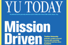 Excerpt of the cover of YU Today, with the title Mission Driven