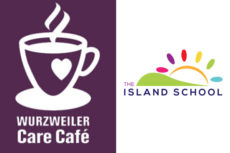 Logos of Care Cafe and Island School