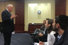 House Majority Leader Steny Hoyer addresses members of YUPAC