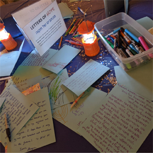 Letters of Hope to the families of the victims in Jersey City