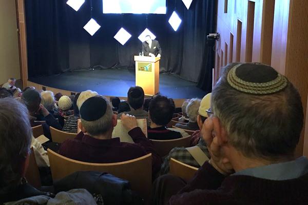 Rabbi Dr. Meir Soloveichik speaking at Beit Avi Chai on Abraham Lincoln