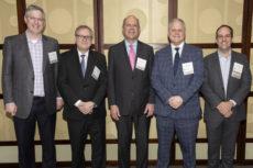 (l-r): Jason Horowitz, Tobias Levkovich, Rich Bensignor, Morris DeFeo, Ahron Herring