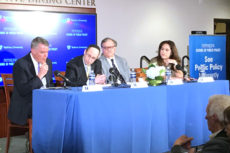 Picture of panel discussion at Pepperdine event.