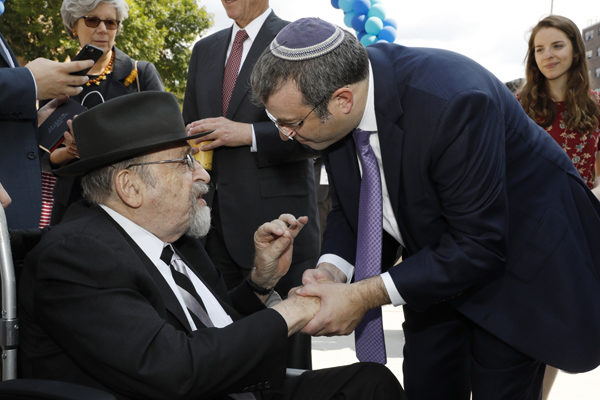 Dr. Norman Lamm with Dr. Ari Berman, President of Yeshiva University