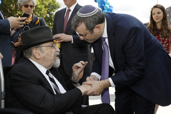 Dr. Norman Lamm with Dr. Ari Berman, President of Yeshiva University