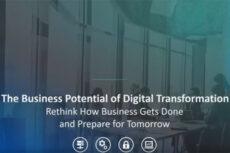 Digital Transformation poster for webinar