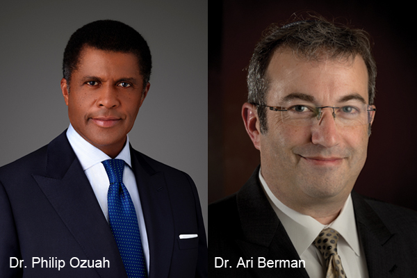Composite photo of Ozuah and Berman