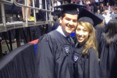 Shimon and Davida Fried at graduation in 2012