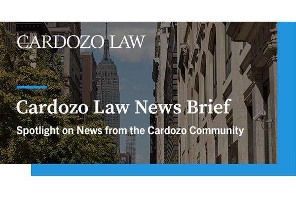 Cardozo News Brief Header