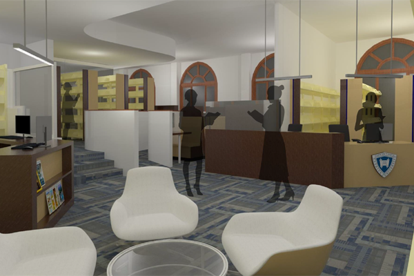 Rendering of the uupgrade to Hedi Steinberg Library
