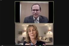 Dr. Shay Pilnik (top) with Nancy Spielberg