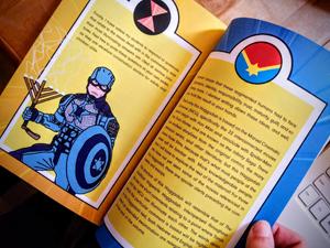 Inside pages of Superhero Haggadah